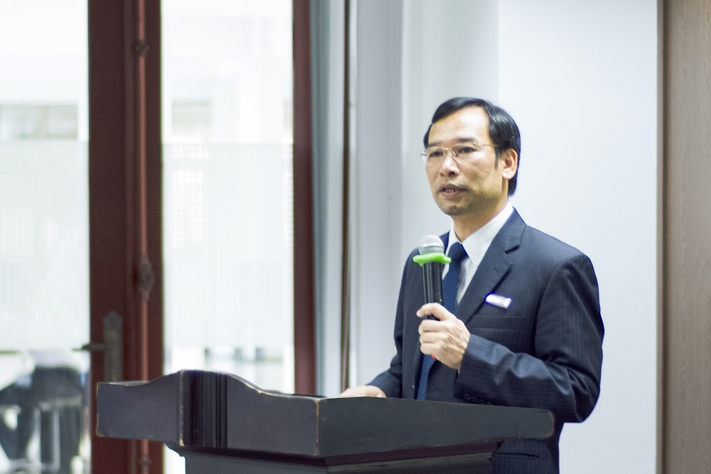 Dr. Nghiem Quy Hao, Head of the Board of Organizers giving his speech at the opening ceremony